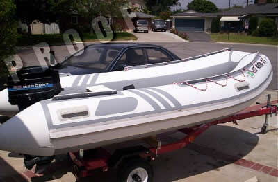 caraway inflatable boat restored with tuff-coat